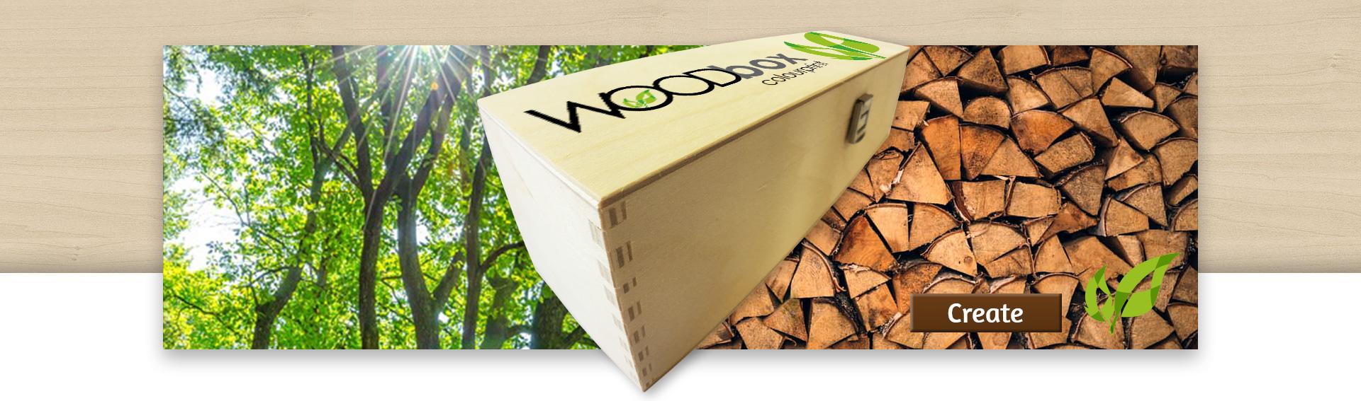 LiGNURA WoodBox Holzkiste Weinkiste bedruckt Druck