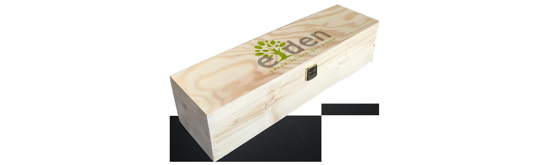 Optik Eden | Holzkiste Weinkiste  bedruckt