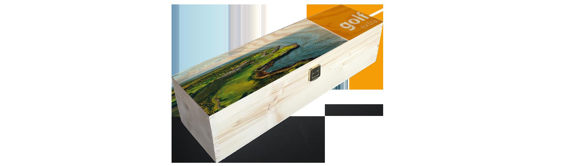 Golfextra | Holzkiste Weinkiste  bedruckt