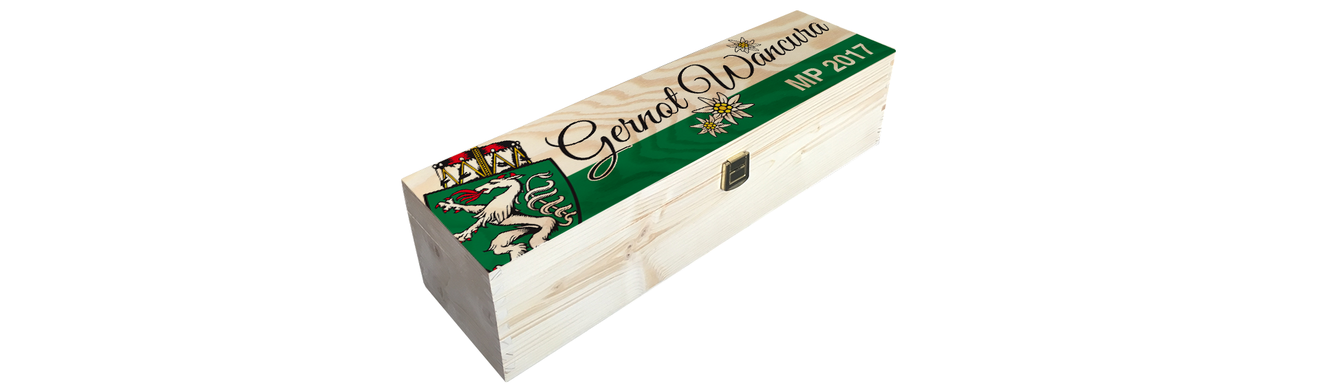 Wancura | Holzkiste Weinkiste  bedruckt