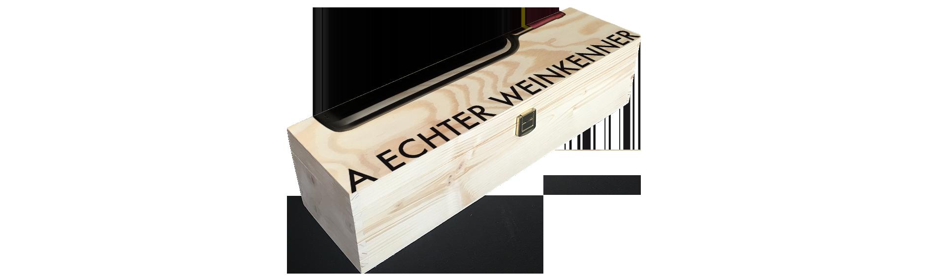 Weinkenner | Holzkiste Weinkiste  bedruckt
