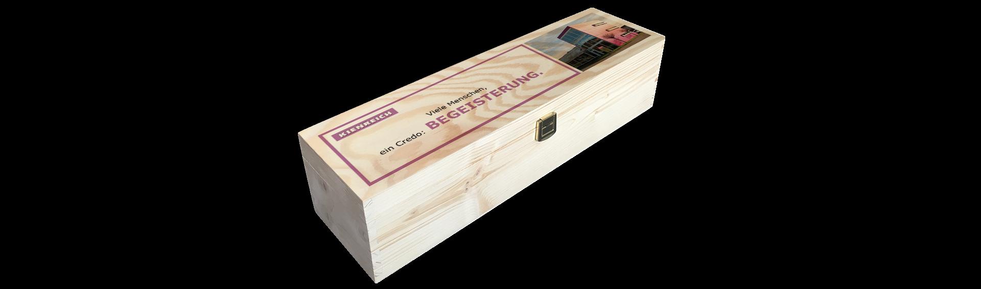 Kienreich | Holzkiste Weinkiste  bedruckt